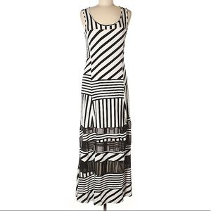 Maxi casual scoop neck dress